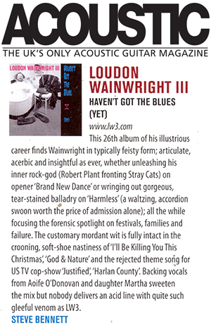 Loudon Wainwright III - Acoustic review