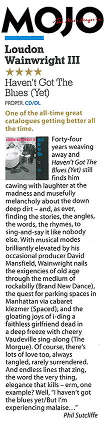 Loudon Wainwright III - MOJO Review