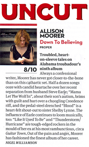 Allison Moorer - Down To Believing Uncut Review