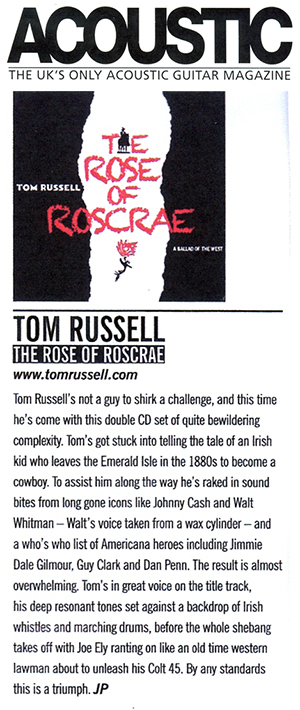 Tom Russell - Acoustic review