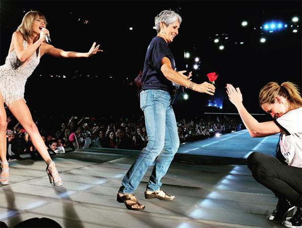 Taylor Swift, Joan Baez and Julia Roberts
