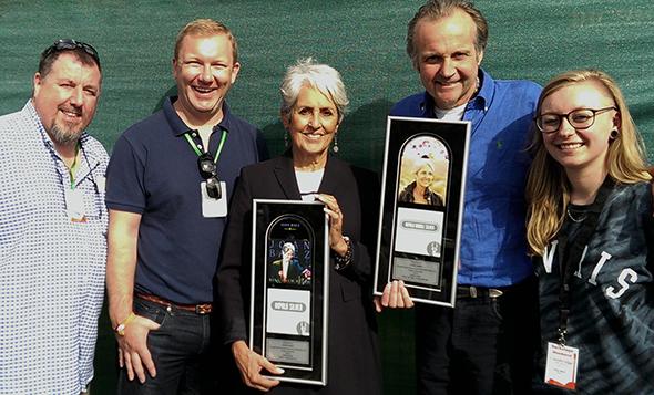 Joan Baez Receives Impala Awards