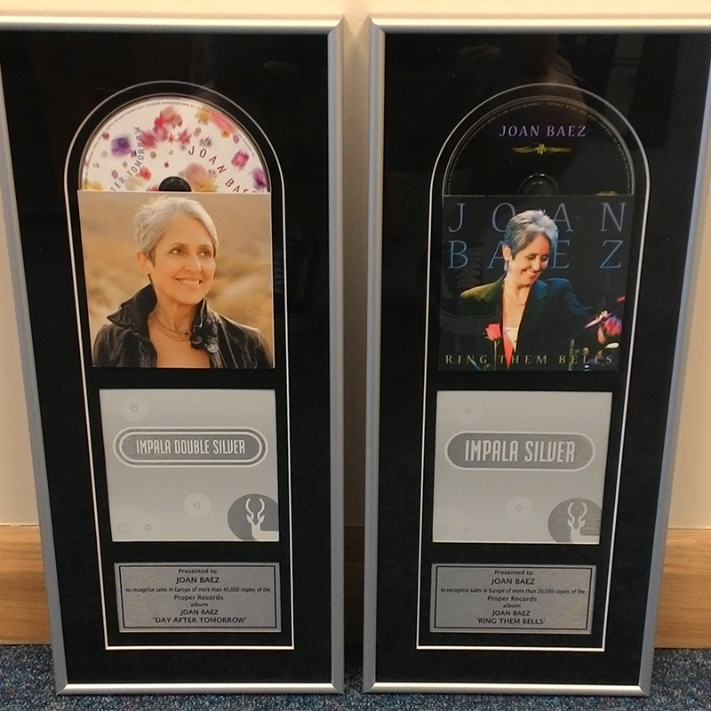 Joan Baez Receives Impala Sales Awards