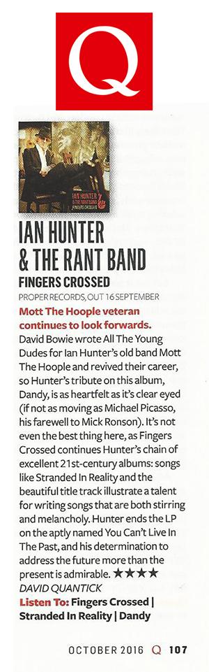 Ian Hunter - Fingers Crossed Q Review